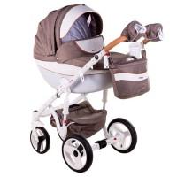Универсальная коляска Adamex Monte Carbon Deluxe 2018 2 в 1 (Адамекс Монте)