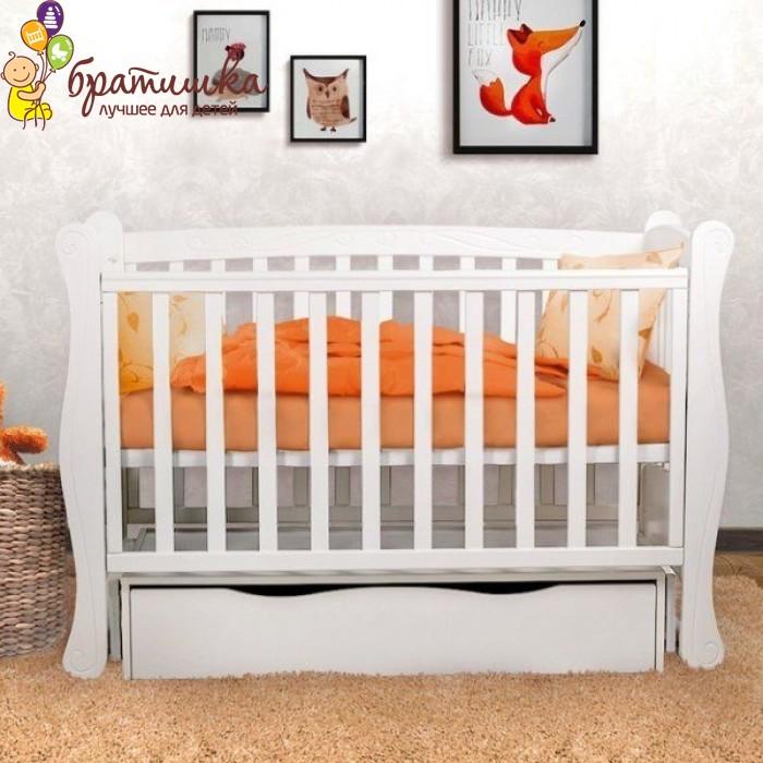 Детская кроватка Angelo Lux 1, цвет белый