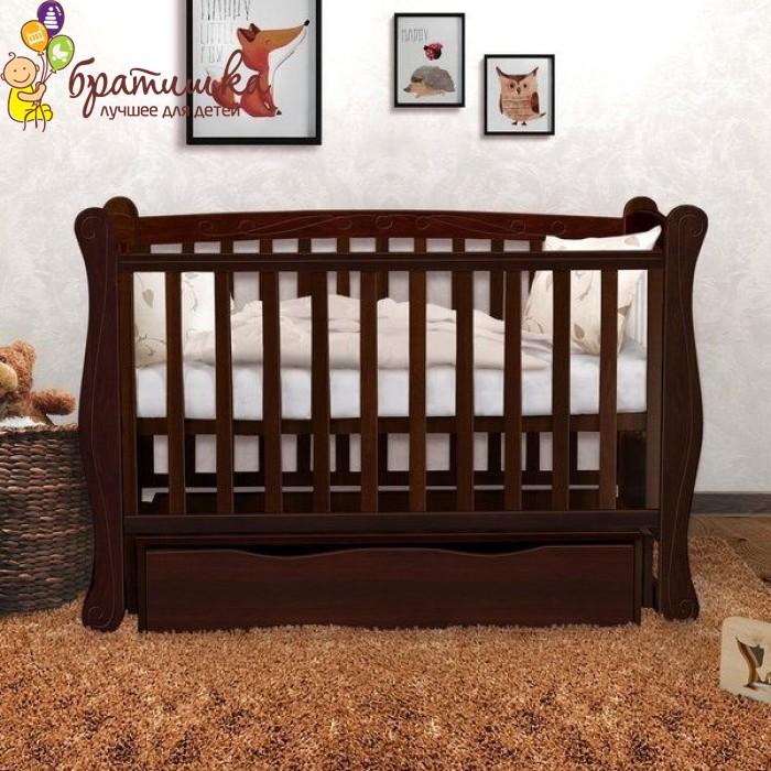 Детская кроватка Angelo Lux 1, цвет орех