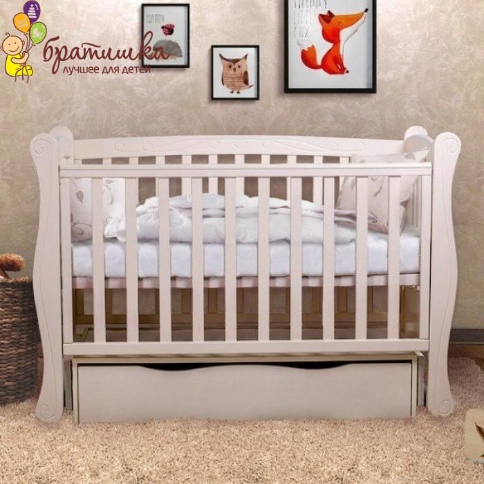 Детская кроватка Angelo Lux 1, цвет слоновая кость