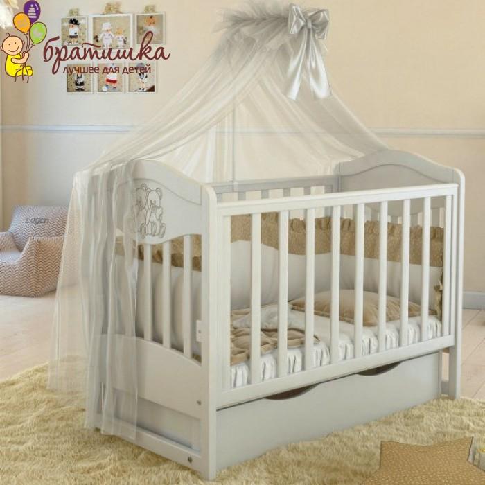 Детская кроватка Angelo Lux 2, цвет белый