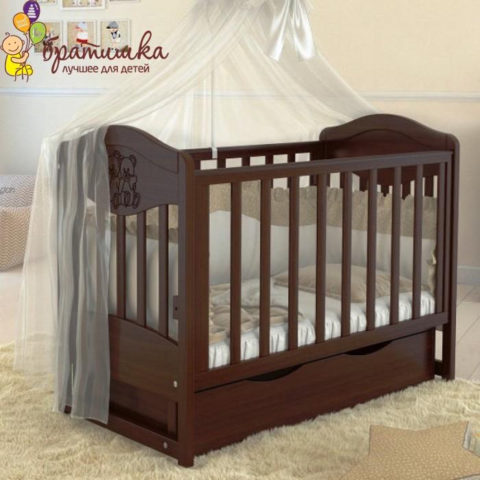 Детская кроватка Angelo Lux 2, цвет орех