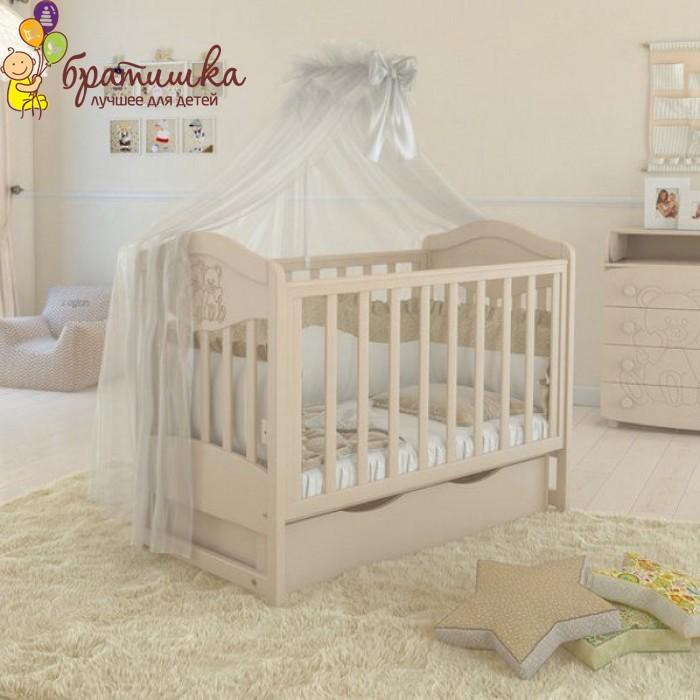 Детская кроватка Angelo Lux 2, цвет слоновая кость