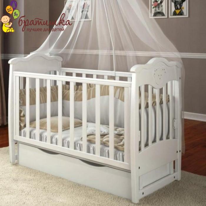 Детская кроватка Angelo Lux 5, цвет белый