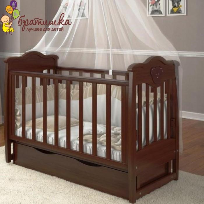 Детская кроватка Angelo Lux 5, цвет орех