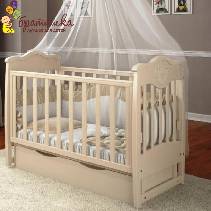 Детская кроватка Angelo Lux 5, цвет слоновая кость