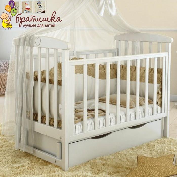 Детская кроватка Angelo Lux 7, цвет белый
