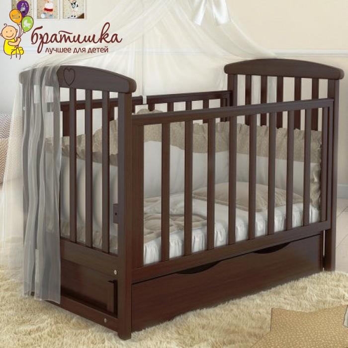 Детская кроватка Angelo Lux 7, цвет орех