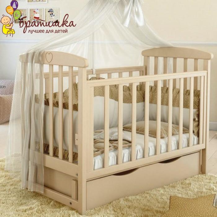 Детская кроватка Angelo Lux 7, цвет слоновая кость
