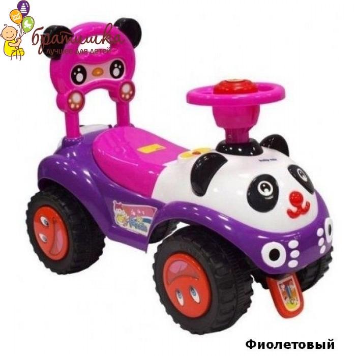 Машинка-каталка Baby Mix Panda, цвет Фиолетовый