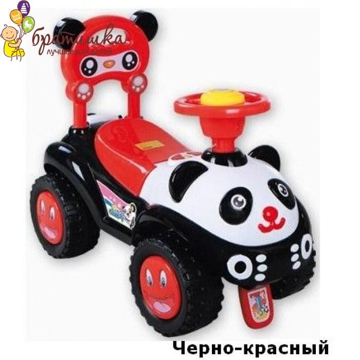 Машинка-каталка Baby Mix Panda, цвет Черно-красный
