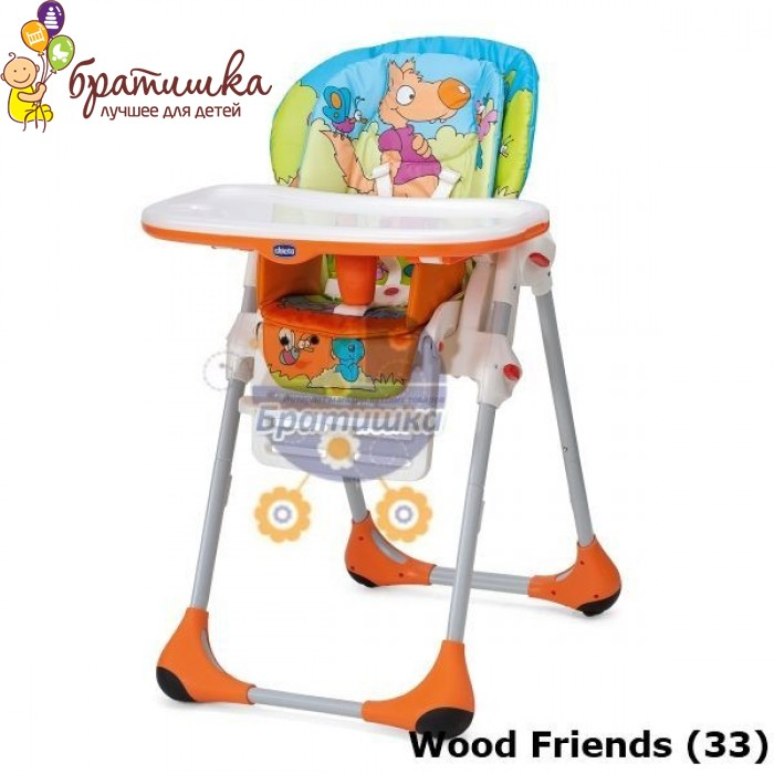 Chicco Polly 2 в 1, цвет Wood Friends