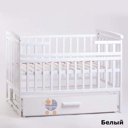 Детская кроватка Детский Сон с маятником и ящиком