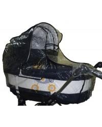 Дождевик на коляску люльку силиконовый