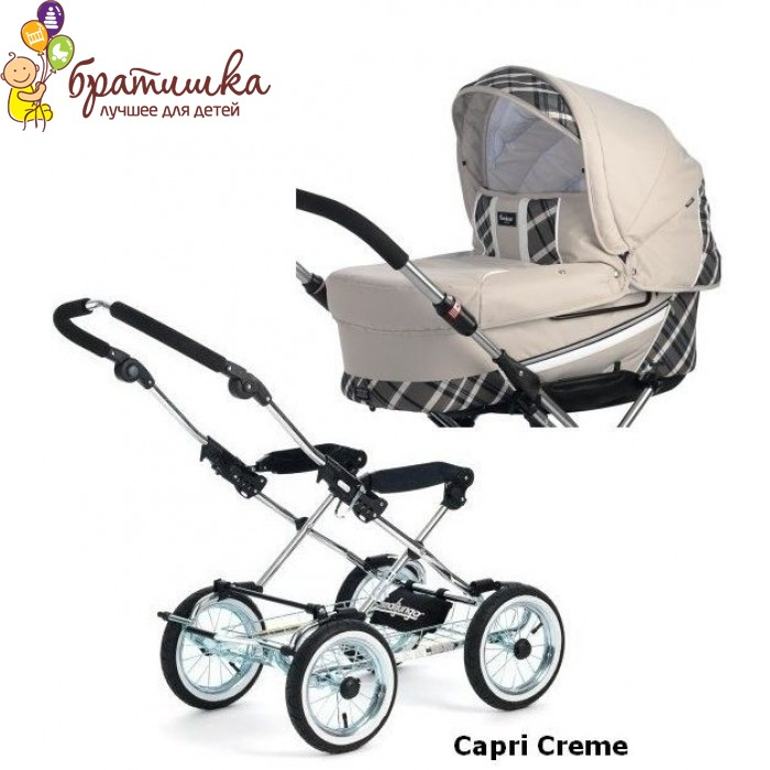 Emmaljunga Edge Duo Combi Classic Chrome, цвет Capri Creme