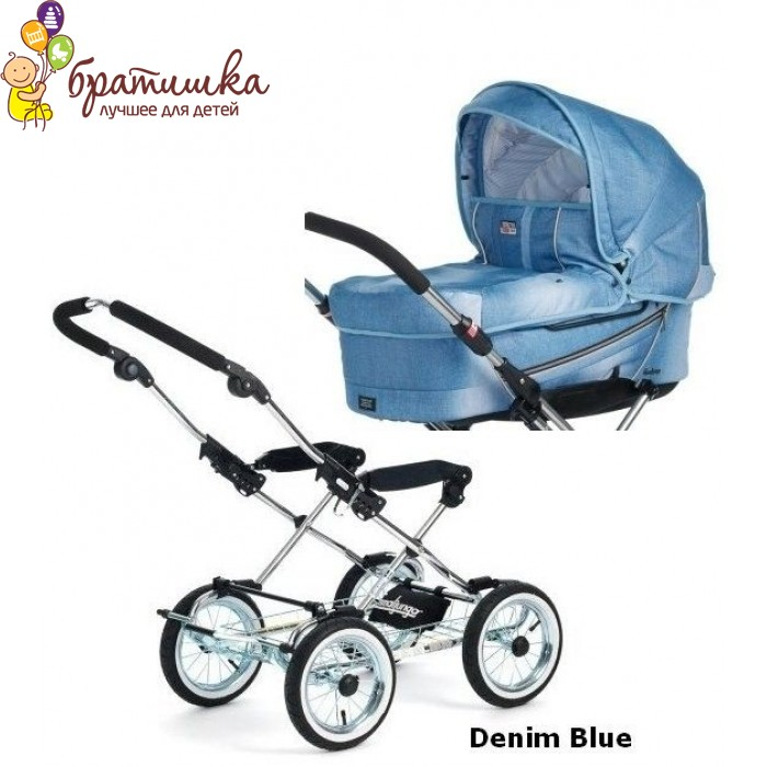 Emmaljunga Edge Duo Combi Classic Chrome, цвет Denim Blue
