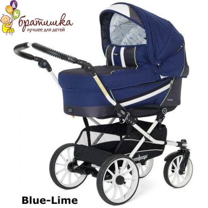 Emmaljunga Edge Duo Combi Classic Chrome Leather, цвет Blue-Lime