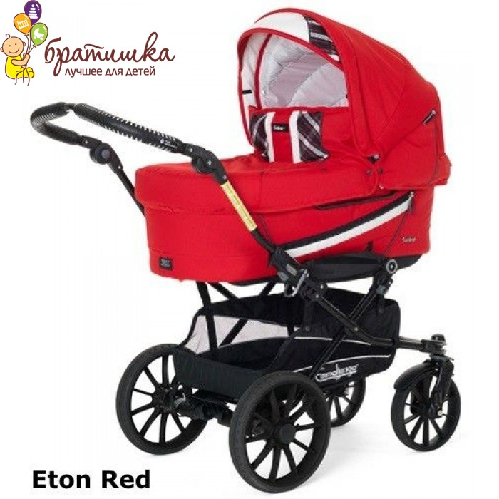 Emmaljunga Edge Duo Combi Classic Chrome Leather, цвет Eton Red