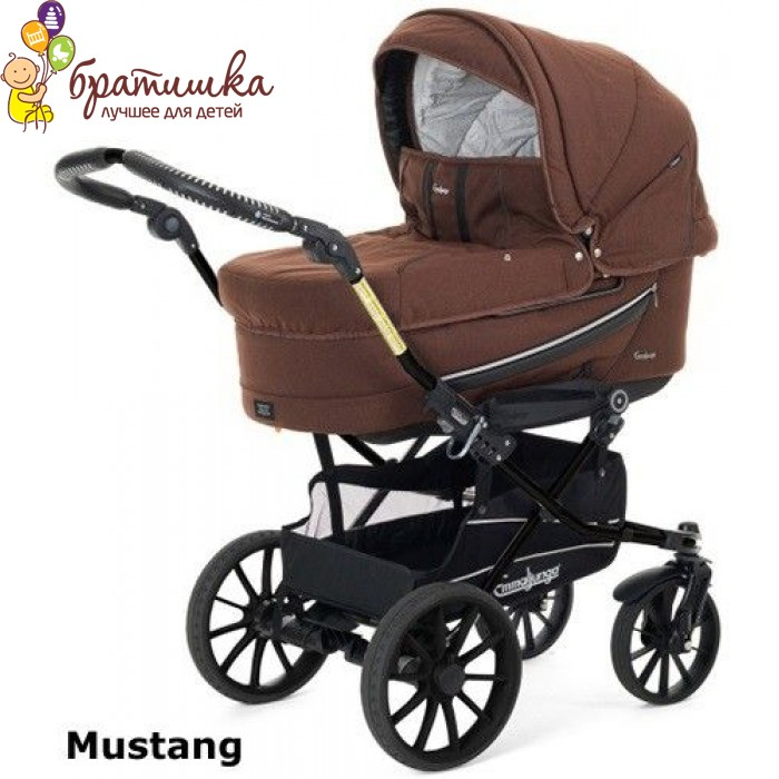 Emmaljunga Edge Duo Combi Classic Chrome Leather цвет Mustang