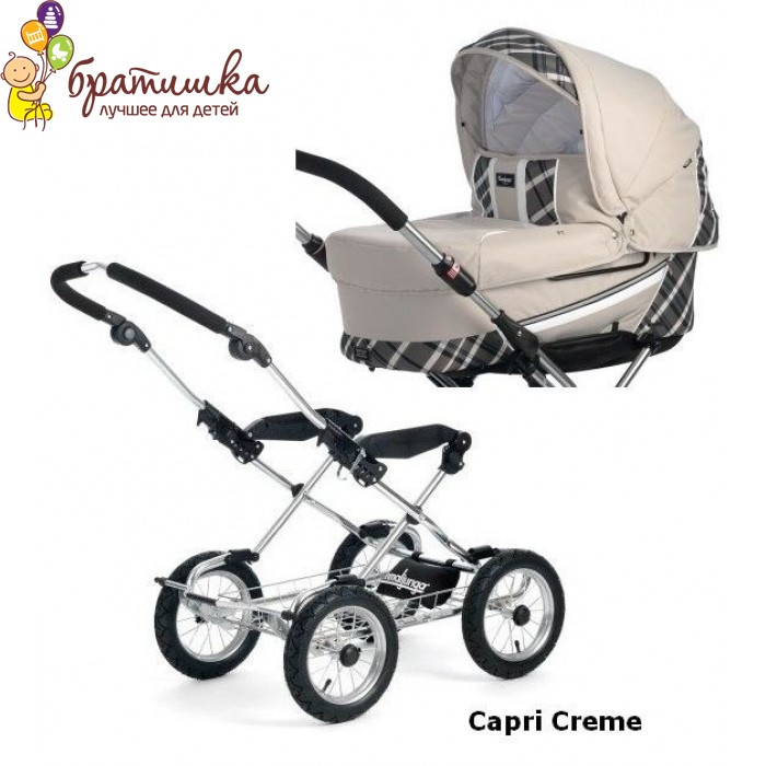 Emmaljunga Edge Duo Combi Classic Cryptonite, цвет Capri Cream