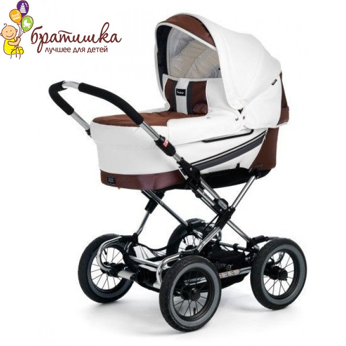 Emmaljunga Mondial Duo Combi Sport, цвет White Leatherette