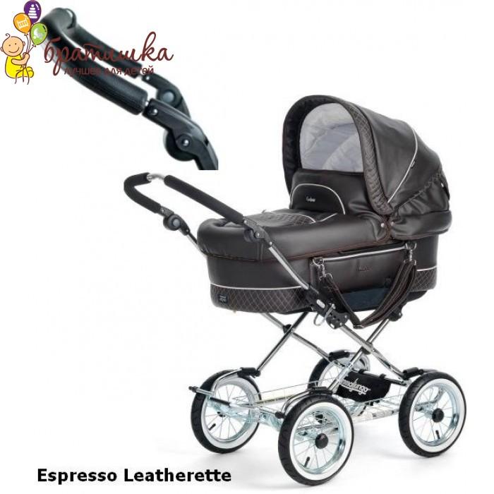 Emmaljunga Mondial Duo Combi Classic Chrome, цвет Espresso Leatherette