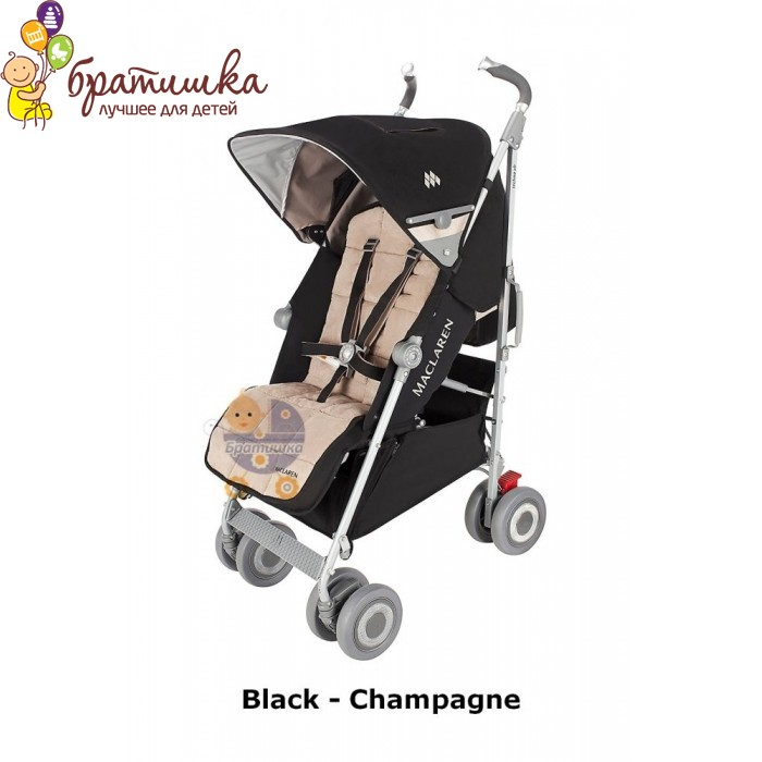 Maclaren Techno XLR, цвет Black - Champagne