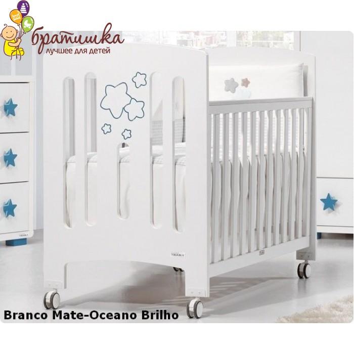 Trama Gamma, цвет Branco Mate-Oceano Brilho