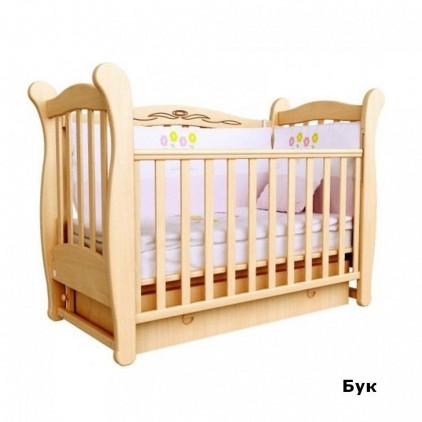 Детская кроватка Верес Соня ЛД15 с маятником и ящиком